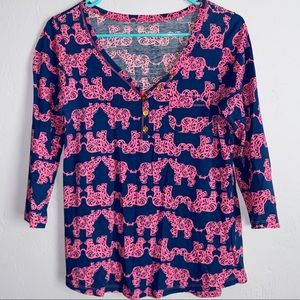 Lilly Pulitzer vneck blouse